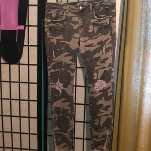 Zara Army Fatigue Jeans